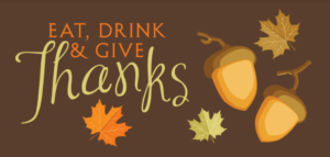 Eat, Drink, and Give Thanks Image